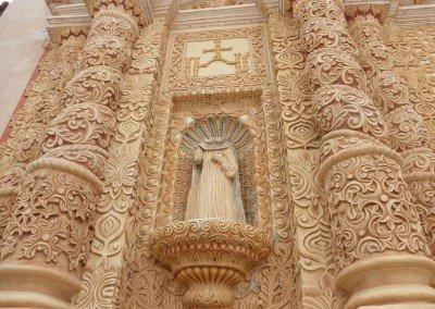 Detalle fachada iglesia de Santo Domingo