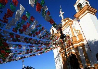 Iglesia de Guadalupe en fiestas